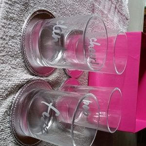 Set of 4 tumblers with coaster